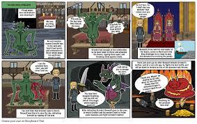 Beowulf Comic Strip Storyboard by sydneyjoyner