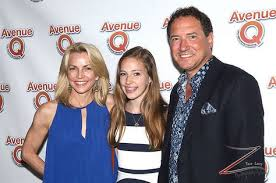 Lynette Perry-McCollum and Kevin McCollum with daughter attend 'Avenue Q'  10th Year Anniversary Performance at New World Stages on July 31, 2013 in  New York City. (Photo by Yoni Levy   10
