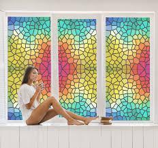 Colourful Stone Pattern Window Sticker Tenstickers