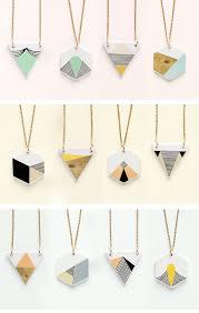 geometry is fun pingente de cerâmica