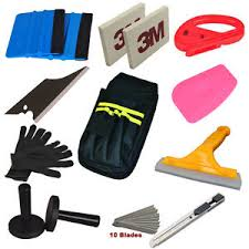 Economy Combo Car Wrap Vinyl Tools Kit Squeegee Scraper Tool Bag Wrapping Decals Ebay