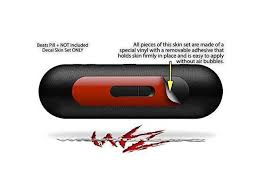 Solids Collection Red Dark Decal Style Skin Fits Beats Pill Plus Beats Pill Not Included Newegg Com