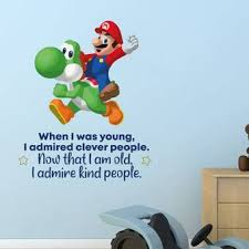 Design With Vinyl Kind People Mario Yoshi Life Quote Cartoon Quotes Wall Sticker Art Design Decal For Girls Boys Kids Room Home Decor Wall Art Vinyl 40x35 Inch Wayfair
