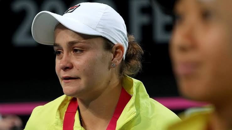 Image result for ash barty in loses match in perth""