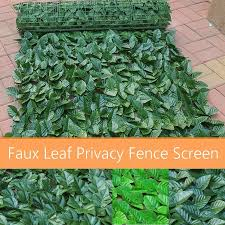 150x300cm Fence Screen Artificial Decorative Leaves Indoor Outdoor Home Green Green Leaf Dark Green Lazada