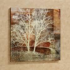 Autumn Silhouette Tree Canvas Wall Art