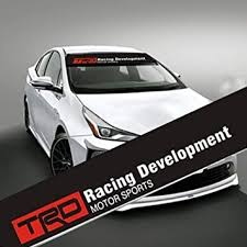 Amazon Com Mycxs Trd Front Windshield Banner Decal 136x21cm Reflective Car Sticker For Toyota Trd Racing Development Auto Exterior Modifield Accessories With Black Background Automotive