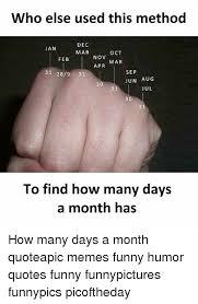 who else used this method dec jan mar oct nov feb mar apr sep