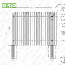 China Typical Arrangement For A Security Purpose Palisade Fence China Plisade Fence Typical Arrangement