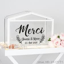 Mega Deal 92b26d Wedding Cards And Gifts Box Vinyl Sticker Custom Texts Names Decals Wedding Card Sign Custom Stickers For Wedding Boxs Art Decor Cicig Co