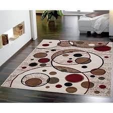 area rug modern circles design rugs 5x7