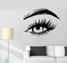 Vinyl Wall Decal Woman Eye Eyelashes Eyebrows Art Stickers 3550ig Wallstickers4you
