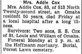 Addie Cox (Unknown-1938) - Find A Grave Memorial