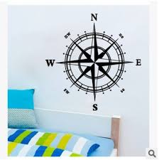Nautical Compass Wall Decal Nautical Compass Wall Sticker Creative Room Decor Wish
