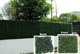 Fake Fence Blog Garden Artificial Hedge Privacy Fence