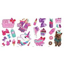 Roommates Jojo Siwa Pink Peel And Stick Wall Decal Set Of 23 Rmk3808scs The Home Depot