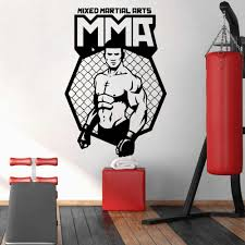 Mma Wall Stickers For Fitness Room Wallpaper Vinyl Stickers Gym Room Decor Decal Pegatinas Para Pared Mma Removable P180 Wall Stickers Aliexpress