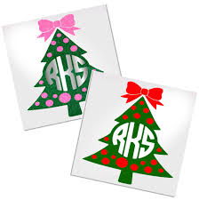 Christmas Tree Mongoram Decal For Cup Tumbler Glass Decals By Adavis
