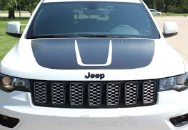 2011 2020 Jeep Grand Cherokee Trailhawk Hood Decal Trail Vinyl Graphic Stripes