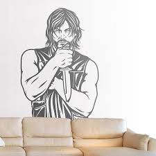Wall Sticker Daryl Dixon The Walking Dead Muraldecal Com