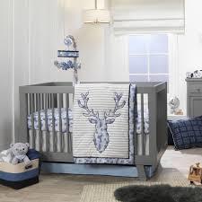 moose 4 piece baby crib bedding set