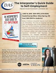 Workshop: The Interpreter's Quick Guide to Self-Employment by ...
