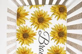 girl crib bedding set sunflower