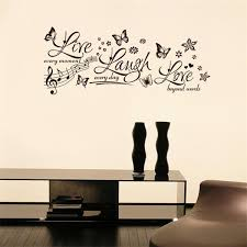 1 X Flying Butterfly Flowers Wall Stickers Flower Live Laugh Love Quote Wall Stickers Home Decor Music Butterfly Wall Stickers Sticker Psp Stickers Nursestickers Money Aliexpress