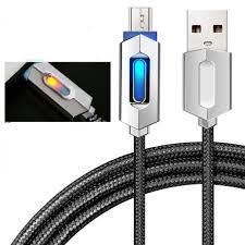 1M Dây Cáp Sạc Micro USB Dây Sạc Dùng Cho Android Samsung S10 Huawei Xiaomi  Có Đèn LED Chiếu Sáng Đèn Báo 2A Nhanh sạc