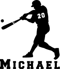 Vinyl Decal Personalized Softball Batter Car Decal Talkingbread Co Il