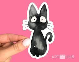 Jiji Sticker Jiji Cat Sticker Studio Ghibli Sticker Etsy