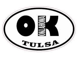 Stickertalk Oval Ok Tulsa Oklahoma Vinyl Sticker 4 Inches By 2 5 Inches Newegg Com