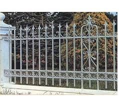 Hench Garden Decorative Black Color Steel Material Wrought Iron Steel Fences Design Fencing Trellis Gates Aliexpress