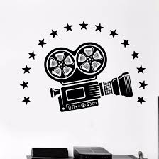 Vinyl Wall Decal Video Camera Wall Art Mural Cinema Movie Room Decoration Film Style Vinyl Wall Stickers Film Camera Decal Ay991 Wall Stickers Aliexpress