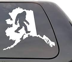Amazon Com Bigfoot Alaska Vinyl Decal Bigfoot Ak Wall Window Door Car Truck Home Kitchen
