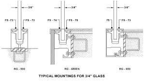 glass door wood handrail
