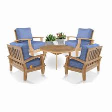 5 pc teak deep seating conversation set