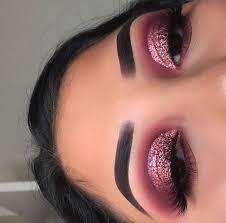 pink toned eyeshadow look valentines