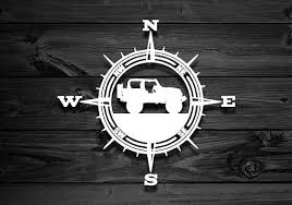 Vinyl Decal For Wranglers Car Decal Compass Decal Explorer Sticker Outdoor Stickers Mountain Decal Offroad Decals 4x4 Adventure Tj Mountain Decal Car Decals Vinyl Vinyl Decals