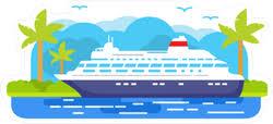 Cartoon Cruise Ship Sticker