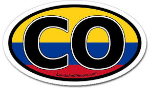 Colombia Vinyl Sticker Oval For Cars Any Surface Lands People