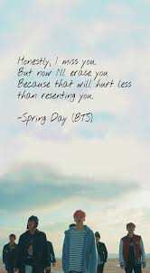 quotes about missing bts spring day