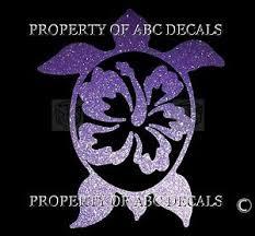 Vrs Hawaiian Hawaii Honu Turtle Sharp Hibiscus Flower Car Decal Metal 6 Sticker Ebay
