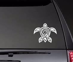 Swirly Hawaiian Tribal Turtle Car Body Stickers Window Door Decal Funny Top Quality Waterproof Zp0204 Car Stickers Aliexpress