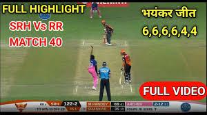 IPL 2020 RR VS SRH FULL HIGHLIGHTS ...