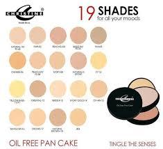 christine oil free pan cake make up
