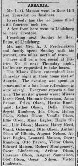 Grandpa Olson at a party Jan 1905 - Newspapers.com