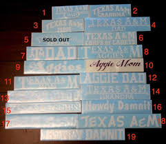 Clearance Sale Texas A M Decals Part 7 Etsy