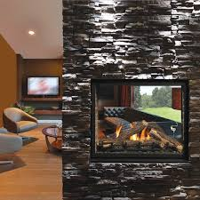 direct vent see through gas fireplace