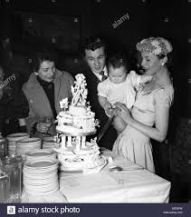 Wedding of actor Bryan Forbes and film actress Constance Smith Stock Photo  - Alamy
